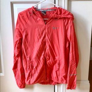 Pink nike running lightweight jacket